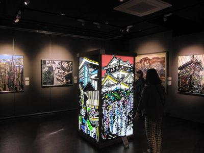 坂部信子の切り絵展第1展示室